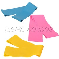 Latex Resistance Band Yoga Exercise Loop Strength Gym Fitness Pink+Yellow+Blue