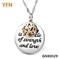 GNX0329 New Arrival Fashion 925 Sterling silver Twisted Water wave Necklace Jewelry with the symbol of Harmony Family Pendant