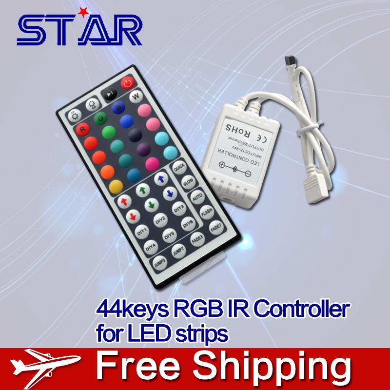 12V 44Key RGB LED Controler IR Remote Controller for SMD 3528 5050 RGB LED SMD Strip Lights(China (Mainland))