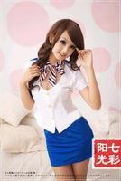 Ribbons sexy qiao stewardess lingerie suit stewardess uniform OL business attire princess dress sexy underwear temptation