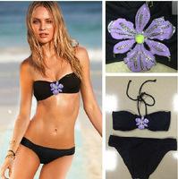 Женское бикини B-44 Dropshipping! Floral Bikini Bandeau swimsuits Crystal Swimwear