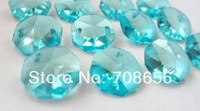 150PCS CRYSTAL OCTAGON 14MM AQUA AQUAMARINE(150pcs RINGS ARE FREE)