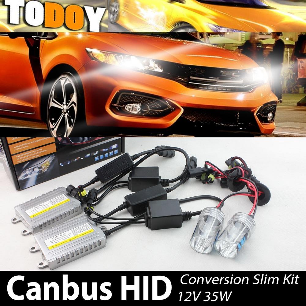 AC 12V 35W Auto HID CANBUS Error Free Conversion Kit Xenon Headlight 3000K-30000K Low Beam HID A3(09-10) RW7 Car Styling(China (Mainland))