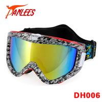 Panlees Ski Goggles Mirrored Snowboard Goggles Ski Glasses Interchangeable Snow Goggles Anti-fog Anti-UV Free Shipping