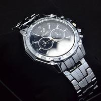 Wholesale High Quality Full Black Stainless Steel watches Men Fashion Sports Quartz Wrist Watch RO-26