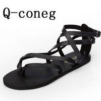 Free shipping Summer fashion sandals male flip sandals leather sandals male cowhide male sandals