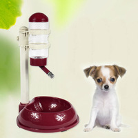 Dog bowl for cats kettle Pet drinker for dogs drinking fountains Rod type pet drinking device can lift Automatic water