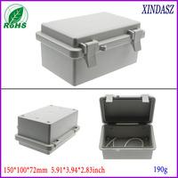 2pcs/lot waterproof electronics enclosure hinge box case electronic 150*100*72mm 5.91*3.94*2.83inch