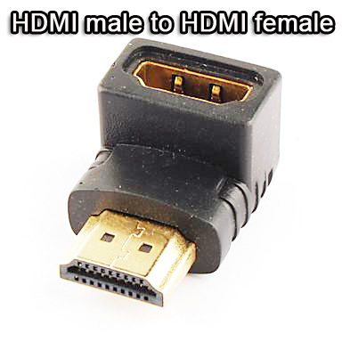 HDMI male to HDMI female cable adaptor converter extender 90 degree for 1080P HDTV free shipping(China (Mainland))