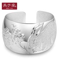 Fine silver 999 pure silver bracelet female silver bracelet hand ring yinzhuo