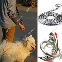 Training Dog Collars Snake P Choke Metal Chain Collar For Medium Large Dog 65cm
