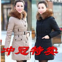 Winter medium-long 2013 down coat women down coat outerwear large fur collar