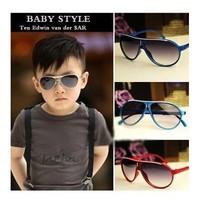 Free Drop shipping 2014 Summer Fashion Boys Girls Sunglasses With Case UV400 baby Sunglasses SG040