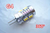 4 x G4 5W high power led bulb, 5630SMD Energy saving Corn Light, AC/DC10-30V direct replace halogen lamps