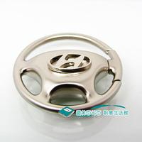 2 beijing  for hyundai   steering wheel car keychain women's male key chain