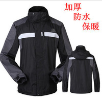 Thick warm fleece long-sleeved men ski mountaineering ski clothing and equipment for outdoor action Jackets