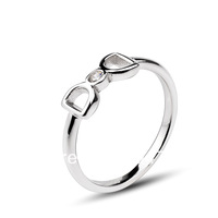 "GNJ0499 Exquisite Design 925 Sterling silver Bowknot Finger Ring Fashion Korean Jewelry ""You come from the satr"" FREE SHIPPING"
