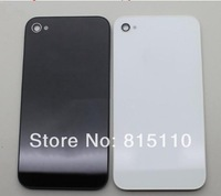 High quality for iphone4 4s gsm cdma back glass housing door Battery Cover Replacement parts Black/white DHL free shipping