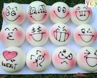 wholesale 20pcs/lot new 2014 hot selling kpop kawaii squishy buns rhinestone lanyard