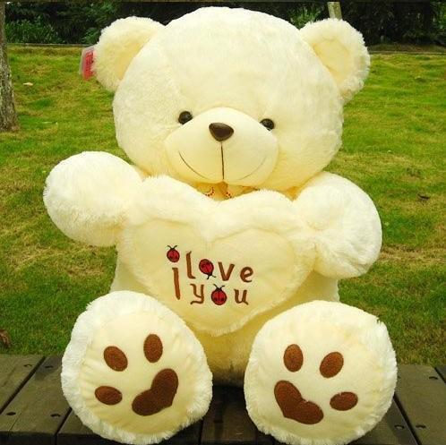 Stuffed & Plush Toys 70cm LOVE Big Plush Teddy Bear Soft Gift for Valentine Day Birthday(China (Mainland))