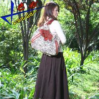 Shoulder bag casual handbag vintage bag print fluid women's handbag national trend big bags