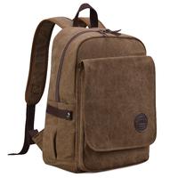 2014 canvas backpack travel bag computer backpack vintage casual student school bag trend