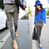 2014 women's legging 9 pants zipper culottes