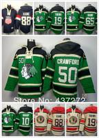 cheap Chicago Blackhawks #50 Corey Crawford CCM Heritage Old Time ice hockey jersey hoodies / hooded sweatshirt