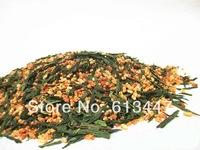 Free Shipping 100g Premium Brown Rice Green Tea Genmaicha Sencha with the rice