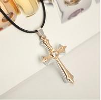 Minimum order $ 10 (mixed) Free Shipping Cross Pendant Necklace /statement necklace/ Men necklace, Titanium Material
