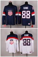 2014 Olympic 88 Patrick Kane USA Jersey Sochi Winter Team USA Ice Hockey Jersey American Patrick Kane Olympic Jersey Blue