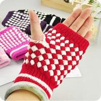 Winter thermal gloves female mitring fingerless computer magic gloves