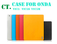 Free shipping Ultra-thin fashion protective leather case  for Onda V975  V975M V975S  Quad Core tablet 5 colors