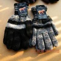 new fashion The thickened Mens Full Finger Gloves Winter Riding glove drive Korean imitation cashmere wool