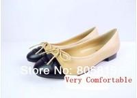 2014 Most Popular Brand Designer Round Toe Women Genuine Sheepskin Leather Casual Flats Shoes 34-40