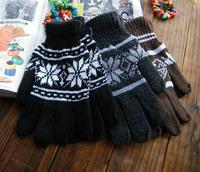 cheap wholesale Male  snow Full Finger Gloves  Winter lovely female male Korean fashion low-cost