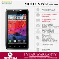 "moto xt912 Original Motorola DROID RAZR XT912 MAXX  Unlocked Smartphone Android OS Wifi GPS WCDMA 3G 4.3"" 1080P Refurbished"