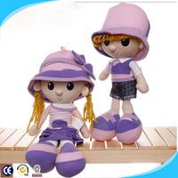 Wholesale custom plush dolls,cute baby doll with big eyes, push doll