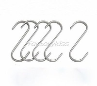 Free Shipping 10x Stainless S Hooks Kitchen Pot Pan Hanger Clothes Storage Rack Small [4003-059] 752 233