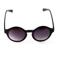 Free Shipping Unisex Retro Round Frame Sunglasses UV 400 Vintage Eyewear - Matte Black [4003-007] 793 279