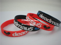 Deadmau5 Wristband, Silicon Bracelet, Adult Size, Black & White Colour, 100pcs/Lot, Free Shipping