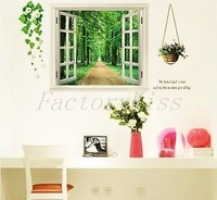 Free Shipping 60cm x 90cm Tree Trail Window Removable Wall Sticker Paper Mural Art Decal Home Decor [4003-048] 369 366