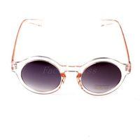 Free Shipping Unisex Classic Retro Round Frame Sunglasses UV 400 Vintage Eyewear Champagne [4003-004] 566 840