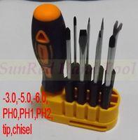 SunRed high quality crv -3.0 -5.0 -6.0 PH0 PH1 PH2 tip chisel screwdriver set multi tool for professional open repiar NO.20436