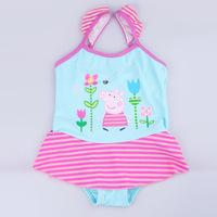 Wholesale Girls Baby Swimwear Toddler Swimsuit Peppa Pig One-piece 2-6 Years Tankini Bathing Bather Beachwear New