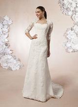 wholesale queen anne neckline wedding dress