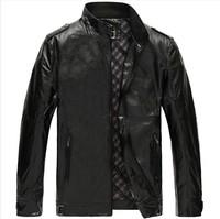 Hot!Extra large size Men's leather jacket men's  ADDS genuine leather motorcycle jacket men big size Leather jacket coat 4XL-8XL