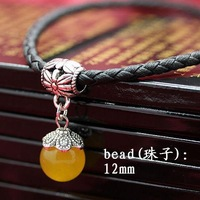 TOP quality ,wholesale,fashion new cute natural yellow agate beads women & men leather rope necklace,lover jewelry,free shipping
