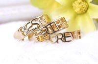 SP089 New Golden Forever Best Friend Ring Set of 3 Pieces Drop shipping /Wholesale Free Shipping