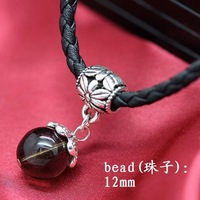TOP quality,beautiful,fashion new cute natural brown crystal beads women & man leather rope necklace,lover jewelry,free shipping
